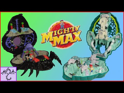 1992 Mighty Max Trapped by the Arachnoid & Liquidates the Ice Alien