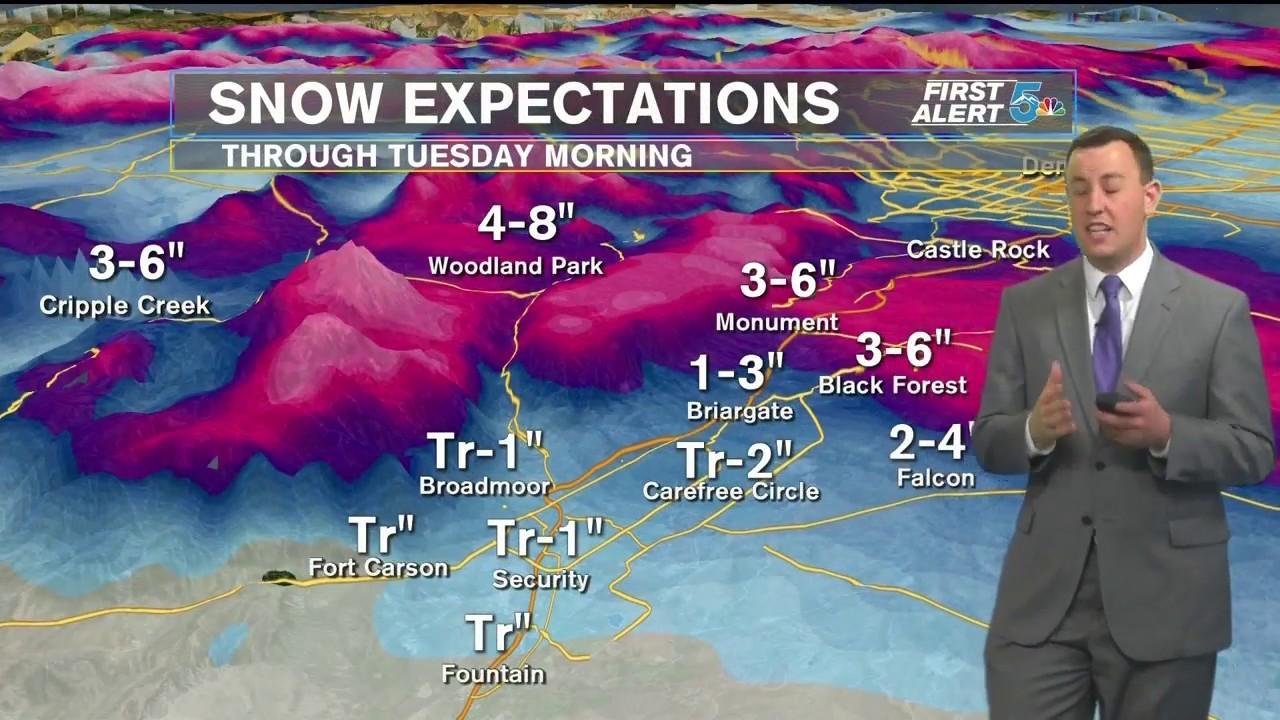 Accumulating snow possible in Colorado Springs overnight