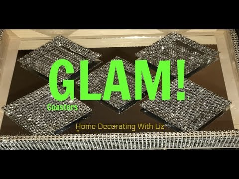 DIY - Bling Glam Out Coasters