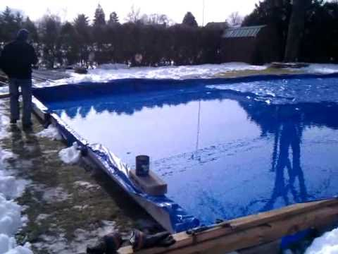 How To Make A Backyard Ice Rink Part 1 Youtube