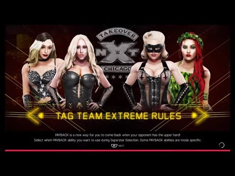 Karma RX & Nicolette Shea Vs. Wenona & Poison Ivy (WWE 2k19) - Girl Fighting