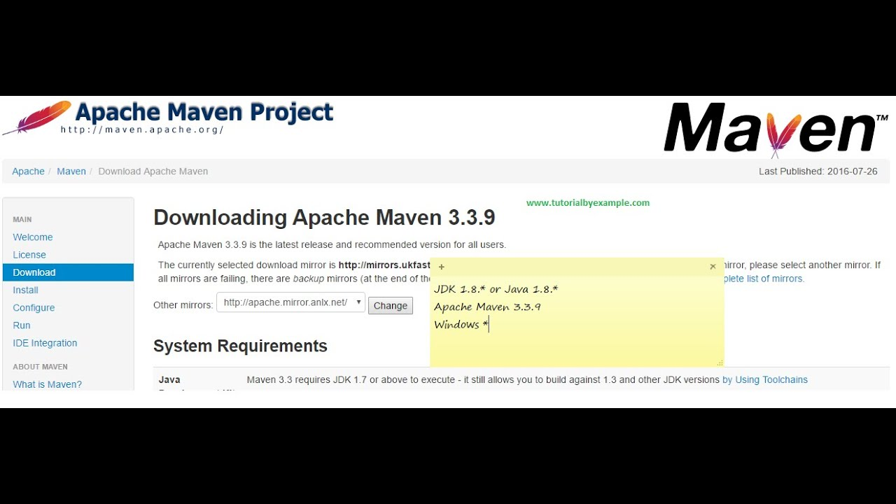 How to install Apache Maven 3 3 9 in Windows 10 (Jdk1 7 min required)