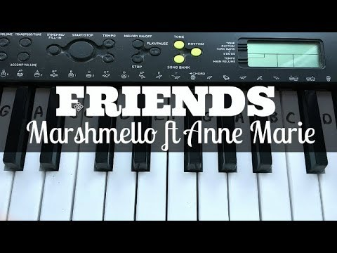 FRIENDS - Marshmello Ft Anne Marie | Easy Keyboard Tutorial With Notes (Right Hand)