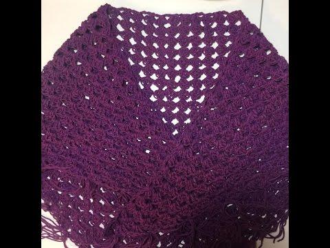 How To Crochet A Triangular Shawlwrap Youtube