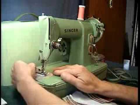 Singer 40J YouTube Delectable Singer Green Sewing Machine
