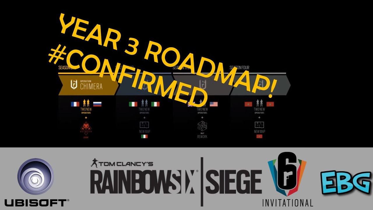RAINBOW SIX SIEGE YEAR 3 ROADMAP! #CONFIRMED BY UBISOFT! ZOMBIE OUTBREAK, on