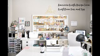 American Crafts Design Team: Craft Room Tour and Tips 2018