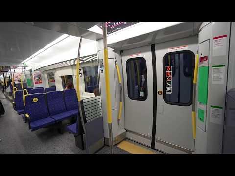 Sweden, Stockholm, subway + train ride from Rinkeby to Handen, 3X escalator, 1X elevator