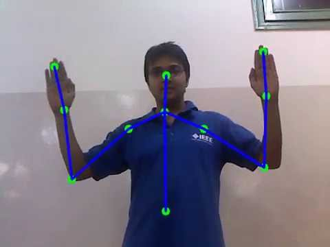 Human body skeleton detection and tracking using OpenCV