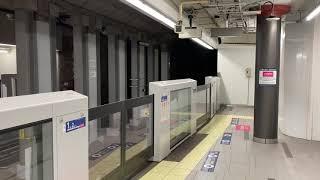 【東京メトロ日比谷線】虎ノ門ヒルズ駅1番線中目黒行き東武70000系到着