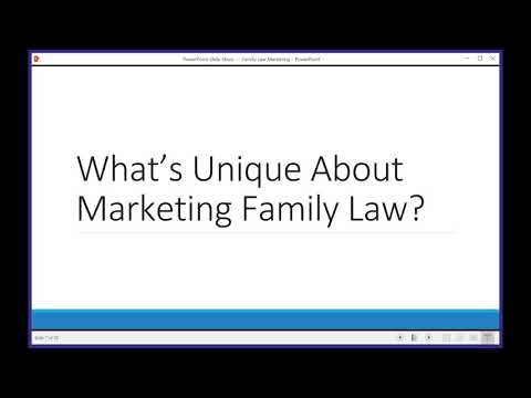 Family Law Marketing 101