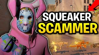 Raging Squeaker Loses Loads of Guns! (Scammer Gets Scammed) Fortnite Save The World