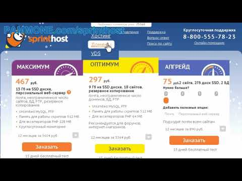 Хостинг Спринтхост - инструкция по началу работы с сайтом компании