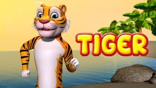 Tiger Song | Animal Rhymes and Dance for Children | Infobells