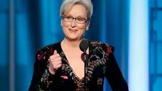Commentary as Meryl Streep gets political in her Golden Globes speech FULL TRANSCRIPT
