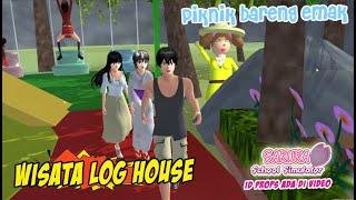 Piknik Bareng Emak Ke Wisata Log House Sakura School Simulator Indonesia