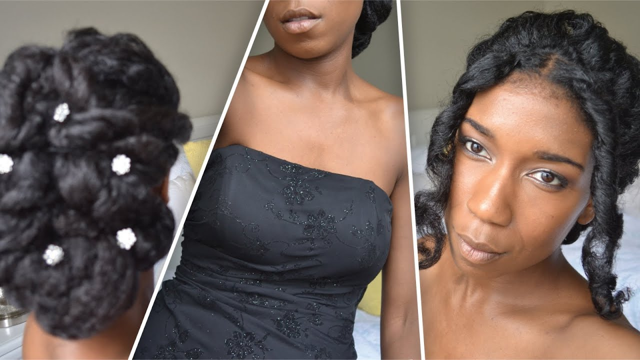 classic prom and wedding updo | natural hair - youtube