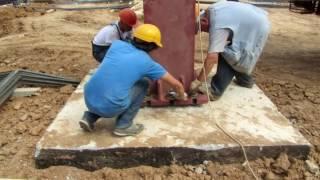 видео Железобетонные колонны: применение, разновидности, особенности производства