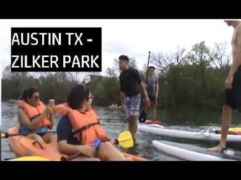 KAYAKING AT ZILKER PARK IN AUSTIN TX