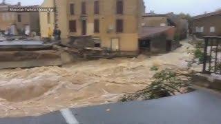 BEI MONTPELLIER: Starkregen löst tödliche Flut in Südfrankreich aus