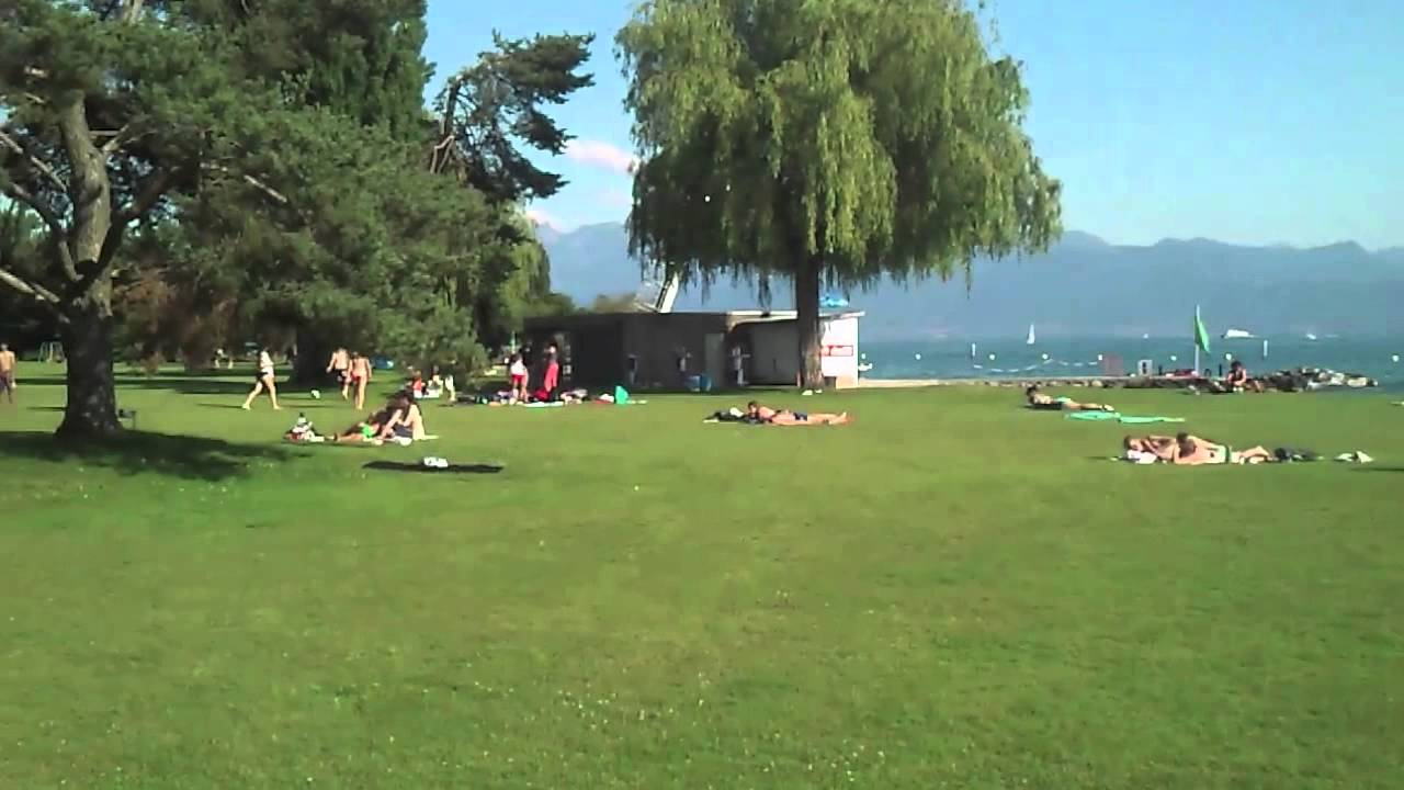 piscine bellerive plage lausanne youtube
