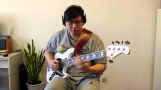 Bass: Moon K.Nyui Sutoh Model JB-5 MB (with Lindy Fralin pickups) R...