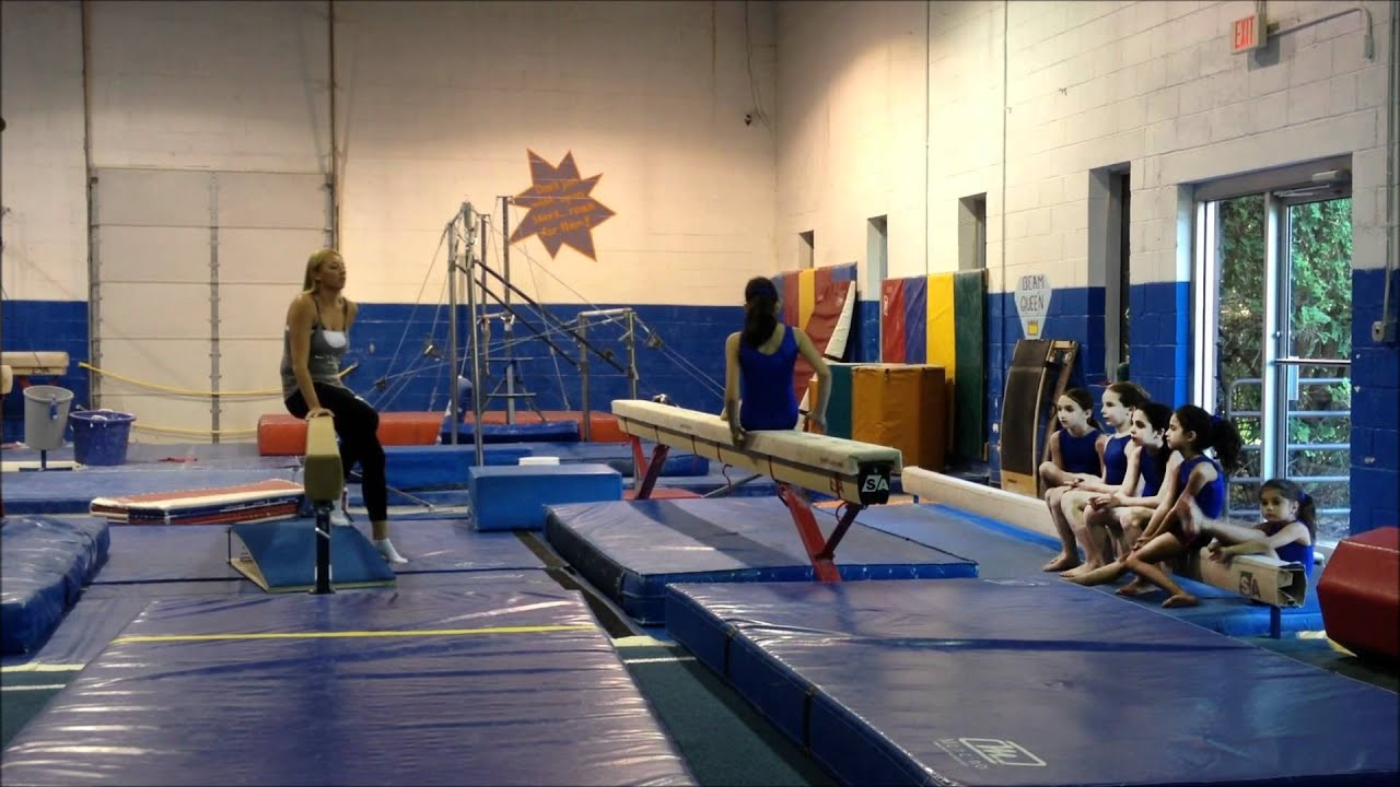 Nudists young gymnastics that interrupt