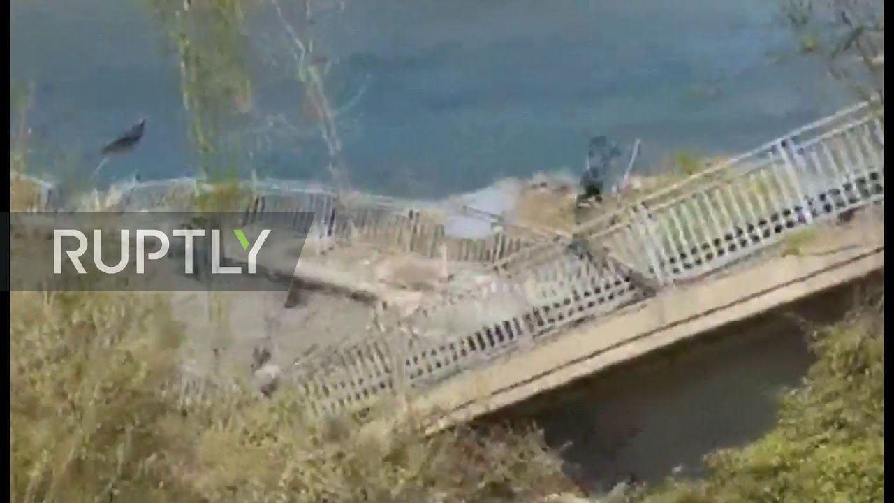 Italy: Two drivers injured as bridge collapses in town of Albiano di Magra