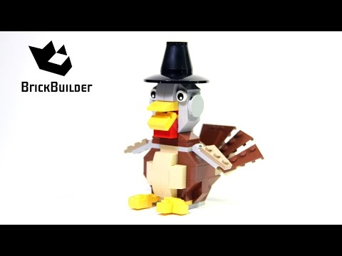 Lego Creator 40091 Thanksgiving Turkey Lego Speed Build Youtube