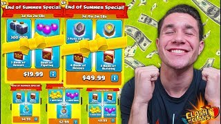 MASSIVE SPENDING SPREE.. BUYING IT ALL! (Clash of Clans)