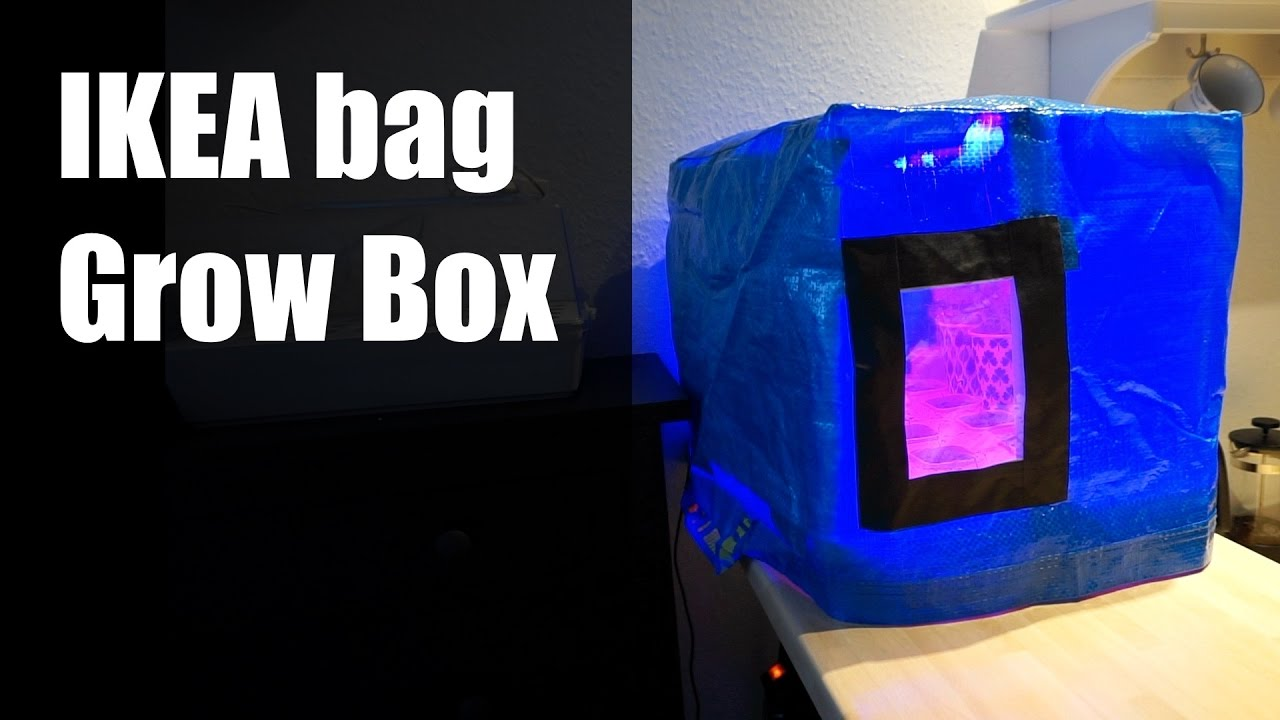 Grow Box From An Ikea Bag For Your Hydroponics Youtube