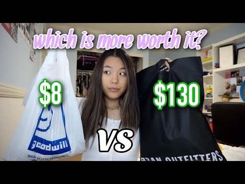 $8 outfit vs $130 outfit : WHICH IS MORE WORTH IT?