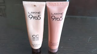 Lakme 9 to 5 weightless mousse foundation vs lakme 9 to 5 CC cream review,