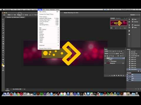 Photoshop CC   | Custom Shapes As Linked Resources (arrows)