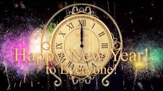 Футаж новогодние часы, стрелки , минуты