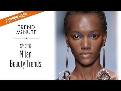 Trend Minute: Milan S/S16 - Beauty Trends