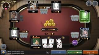 TRIK Cara main domino qiu qiu agar dapat kartu bagus dan menang