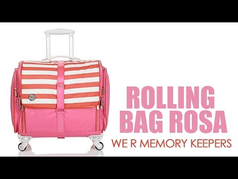 360 Crafters's Rolling Bag Rosa - We R Memory Keepers.
