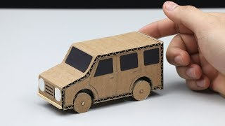 How to make Powered Car from Cardboard - DIY Powered Car