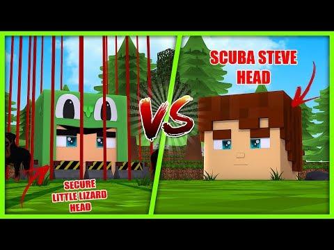 MOST SECURE BASE CHALLENGE -LITTLE LIZARD HEAD! w/ Scuba Steve