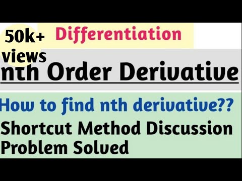 nth derivative of standard functions | successive differentiation