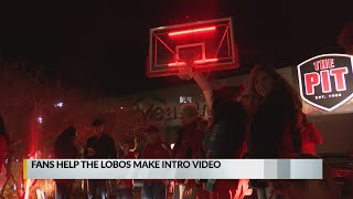Fans featured in new intro video for Lobo men's basketball
