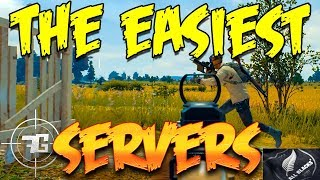 OC SERVERS - The EASIEST PUBG Servers on the PLANET!? - PLAYERUNKNOWNS Battlegrounds Best Servers #1