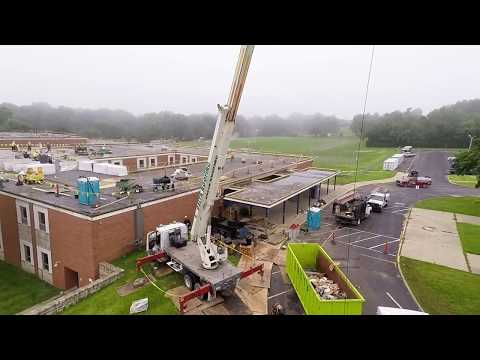 Delta Innovative Services, Kansas City Commercial Roofing Contractor, Raytown Middle School