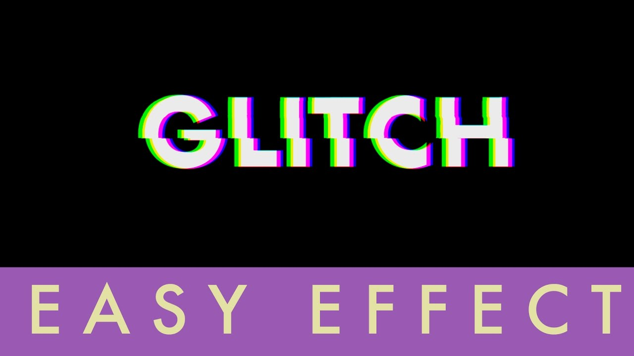 How To Make Glitch Effect in After Effects | Easy Tutorial