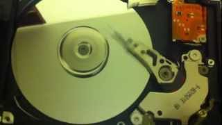 Laptop hard drive.. Inside and spinning!