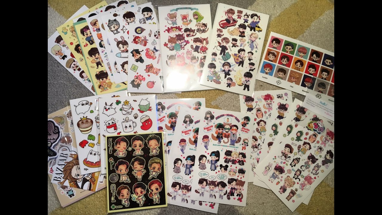 Exo Sticker Haul Amp Supplies I Use For My Kpop Journal