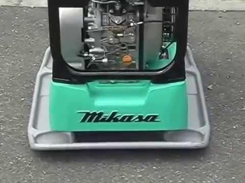 Проверка реверсивной виброплиты Mikasa