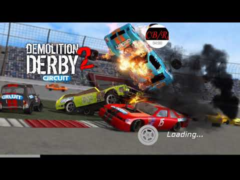 Demolition Derby 2 | Santa's sleigh racing in the snow! Can't stay on the road!