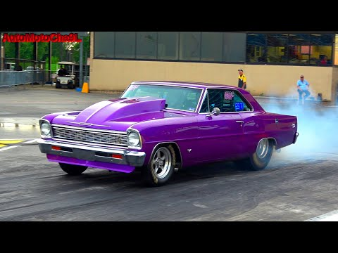Pro Street Cars Drag Racing American Muscle TEST AND TUNE WILD RACE 1/4 MILE
